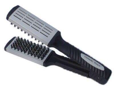 ストレートヘア−アイロン補助製品・遠赤イオンケアクリップブラシ